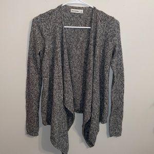 Abercrombie kids sweater cardigan girls XL grey